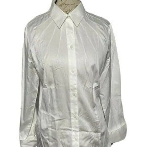 Antonio Melani Womens Shirt Sz L Wh French Cuffs